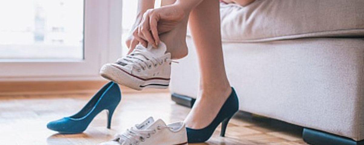 کفش نامناسب - درد پا
